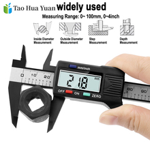 цена на New Arrival 150mm 6 inch LCD Digital Electronic Carbon Fiber Vernier Caliper Gauge Micrometer Measuring Tool  0.1mm Digital Tool