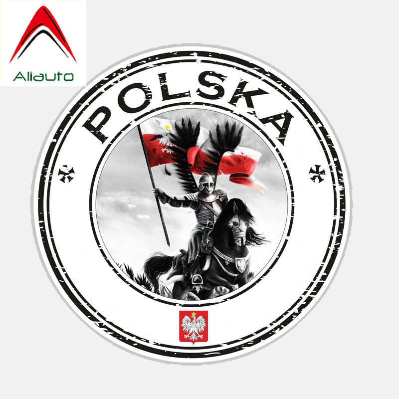 Aliauto Mode Auto Sticker Polen Polska Husarz Decor Vinyl Decal Cover Krassen voor Golf 5 Kia Ceed Seat Ibiza, 11cm * 11cm