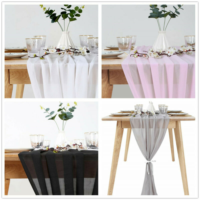 Flowy Chiffon Table Runner 27 X 120 Kitchen  Living Room Party Wedding Decor