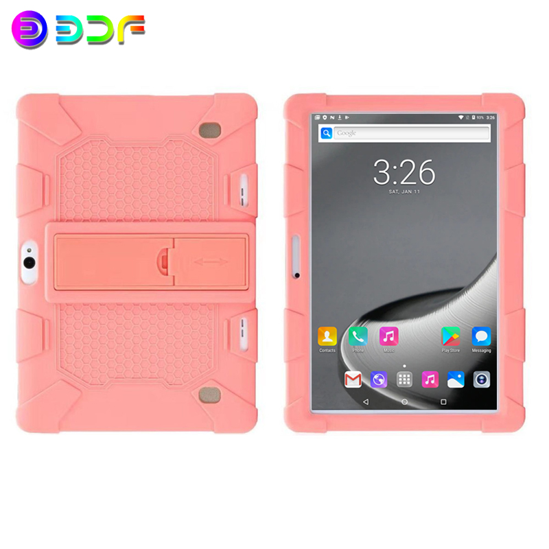 New 10 Inch Tablet PC Android 7.0 Quad Core 32GB Memory CE Brand WiFi FM 3G Phone Call Laptop 10.1 Tablets Soft Silicone Shell