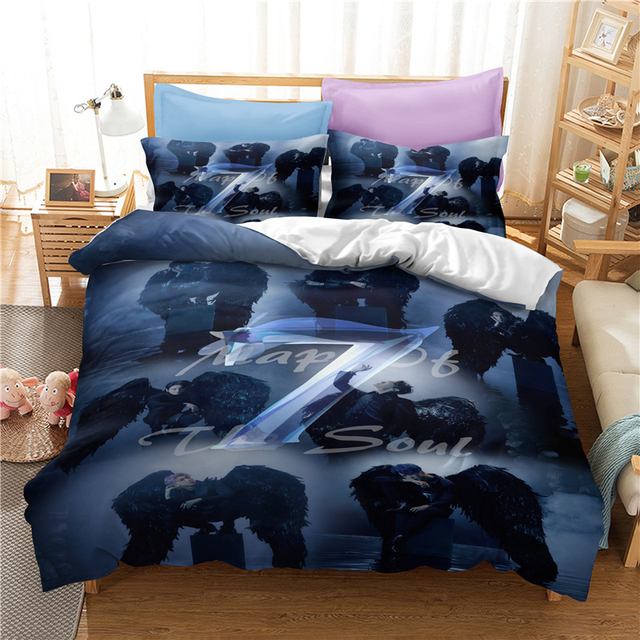 3D BANGTAN BOYS THEMED BEDDING SETS (11 VARIAN)