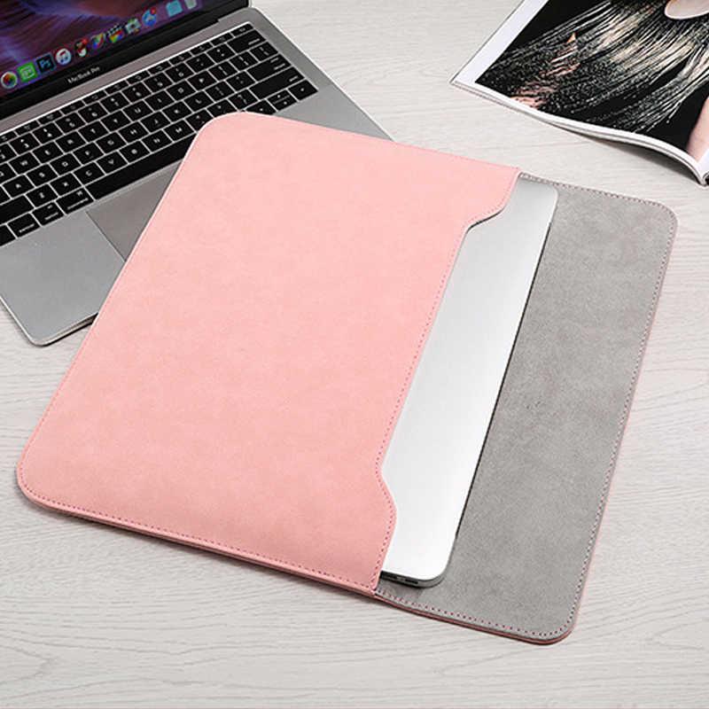 2020 yeni lüks Laptop kol çantası Macbook Air 13 için dokunmatik kimliği 2018 Pro 13 11 12 15 çanta durumda xiaomi 13.3 15.6 dizüstü kapak