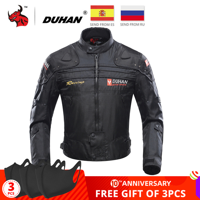 $ US $65.91 DUHAN Motorcycle Jacket Motorbike Riding Jacket Windproof Motorcycle Full Body Protective Gear Armor Autumn Winter Moto Clothing