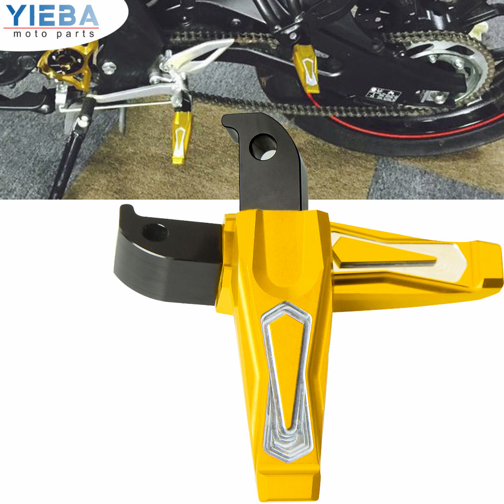 CNC Aluminum Motorcycle Accessories Pedals Rearest Passenger Foot Pegs Moto Parts Rests For Yamaha YZF-R300 YZF R300 YZFR300