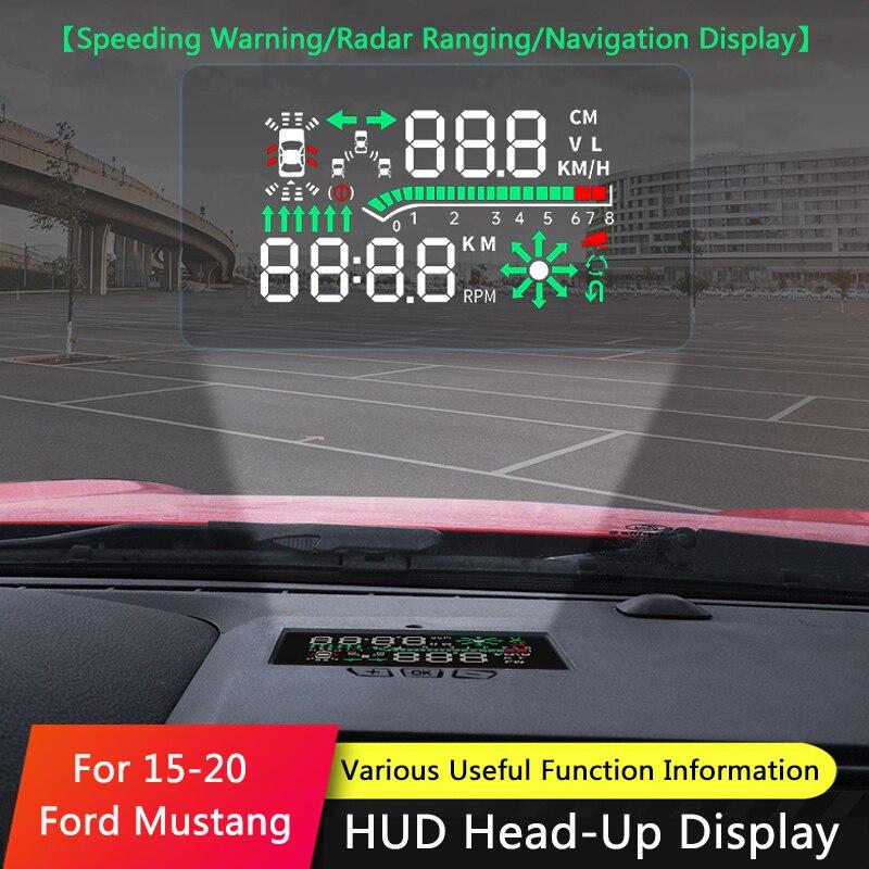 QHCP автомобильный HUD безопасный привод дисплей Refkecting лобовое стекло дисплей экран проектор наклейка подходит для Ford Mustang 2015-2019