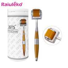 ZGTS 192 Derma Roller Microneedling 0.2/0.25/0.3mm Needles Length Titanium Dermoroller Microniddle Roller For Face Hair Growth