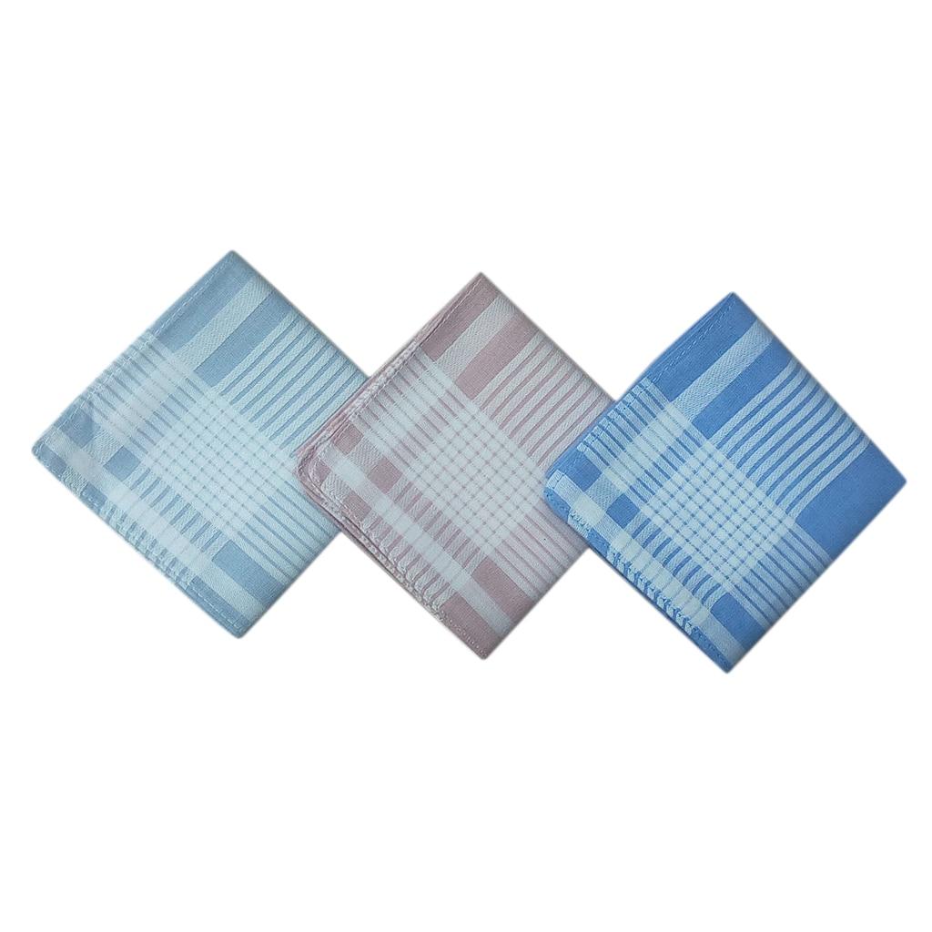 12pcs Men Check Handkerchiefs Cotton Pocket Square Hanky Handkerchief