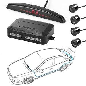 Image 5 - YASOKRO רכב חניה חיישן אוטומטי Parktronic LED תצוגה הפוך גיבוי רכב חניה רדאר צג גלאי מערכת עם 4 חיישנים