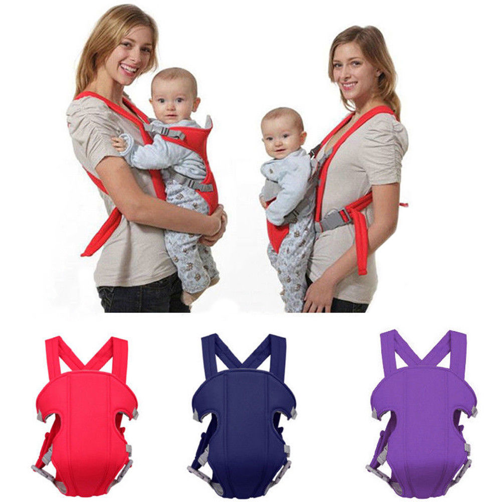 Baby Carrier Front Back Carry Babies Infant Toddler Adjustable Safety Carriers 360 Four Position Lap Strap Soft Sling Carriers