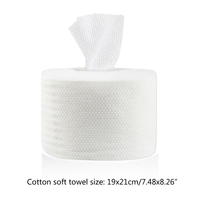 1 Roll Disposable Facial Towel Non-Woven Cotton Tissue Wet Dry Makeup Tissue Q81B