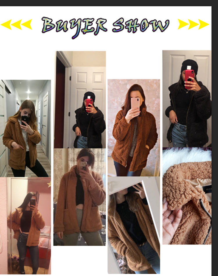Hae42bc0a16534988b2d7244b66479cf9N Autumn winter jacket female coat 2019 fashion korean style plus size women teddy fur coat female casual jacket woman pusheen