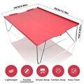 Красный Портативный ультра-легкий маленький мини Алюминий складной походный стол для пикника Открытый путешествия Пеший Туризм Рыбалка