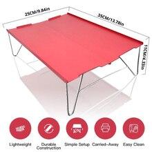 אדום נייד קל במיוחד קטן מיני אלומיניום מתקפל קמפינג שולחן שולחן פיקניק חיצוני נסיעות טיולי דיג