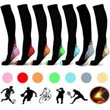 Football Socks Men Long Sport Socks Nylon Non Skid Outdoor Compression Stockings Chaussette Football Homme For Men Women New pair of hot sale letter pattern football stockings athletic socks for men