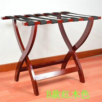 Прикроватная одежда отель багажные стеллажи спальня комната дома складной пол мебель из массива дерева - Цвет: Ivory