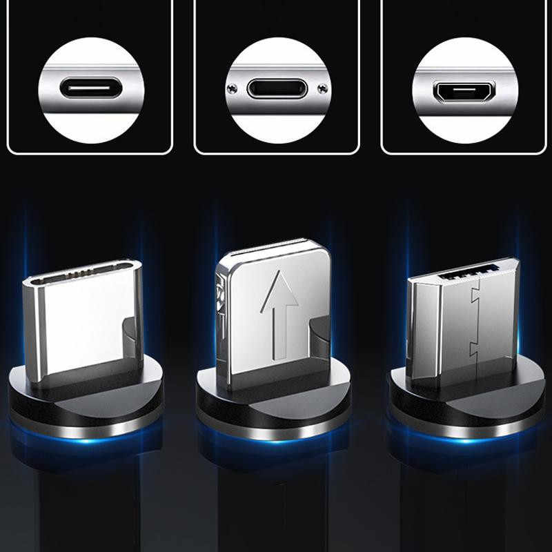 Kas Bercahaya Pencahayaan Kabel Micro USB Tipe C Magnet Charger Kabel Cabo untuk iPhone 11 Pro Max Samsung Galaxy J5 j7 2017 A7 2018