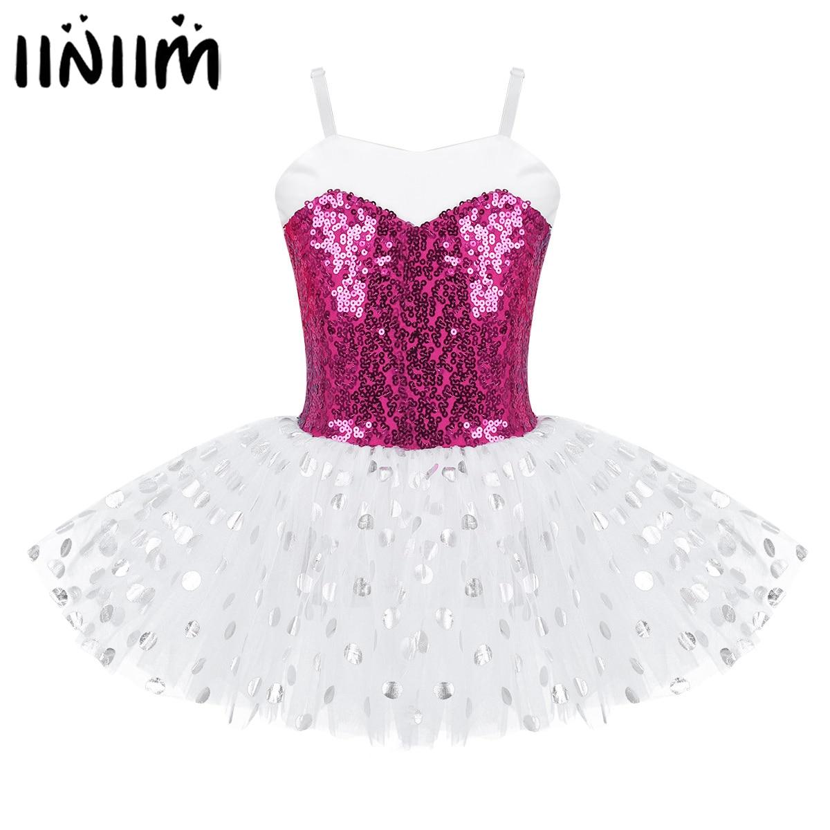 Kids Girl Lyrical Dance Dress Spaghetti Ballet Leotard Gymnastics Modern Costume