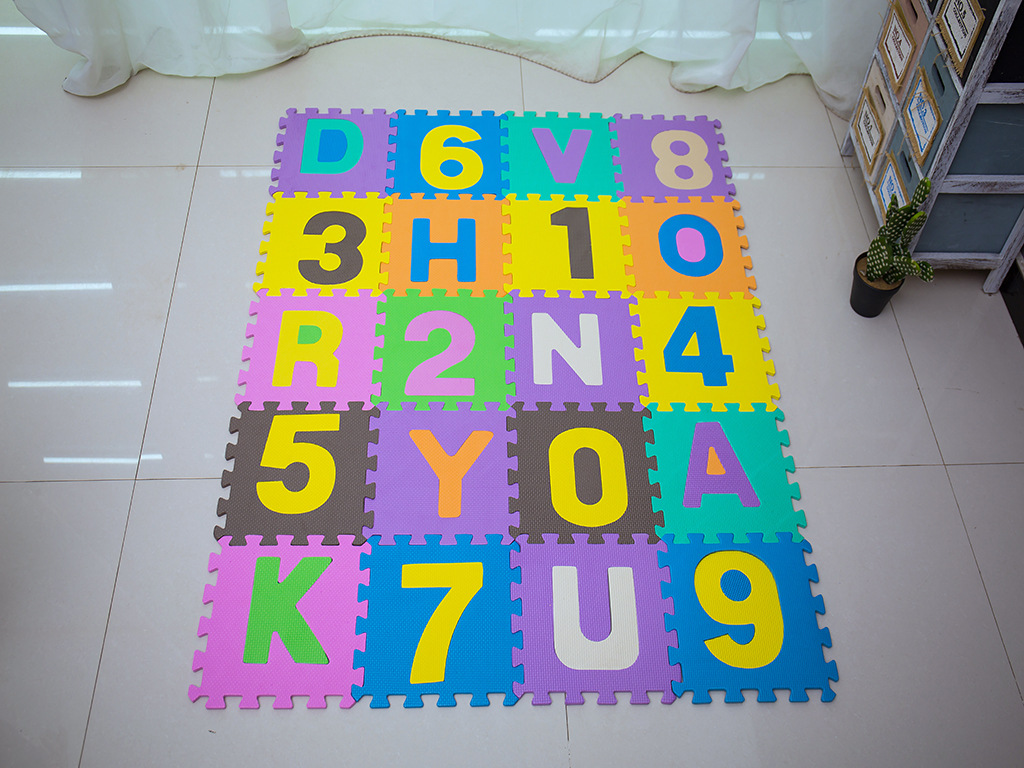 CHILDREN'S Creeping Mat Thick 1 Centimeter Shatter-resistant Foam Floor Pad Jigsaw Puzzle Joint Mat 36 PCs 26 Plus With Numbers