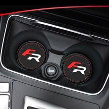 1 шт., автомобильный держатель для стакана, кожаный декор для сидений FR Leon Ibiza cupra, аксессуары для стайлинга автомобиля