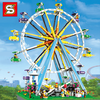 SY 1218 City Street Ferris Wheel Creator Streetview Model Legolying Technic Building Blocks Bricks Toy Gifts for Girl Boy