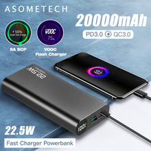 20000mAh Power Bank 22.5W Quick Charge 3.0 5A Powerbank PD USB Type C Portable External Battery Super Fast Charger for iPhone 12