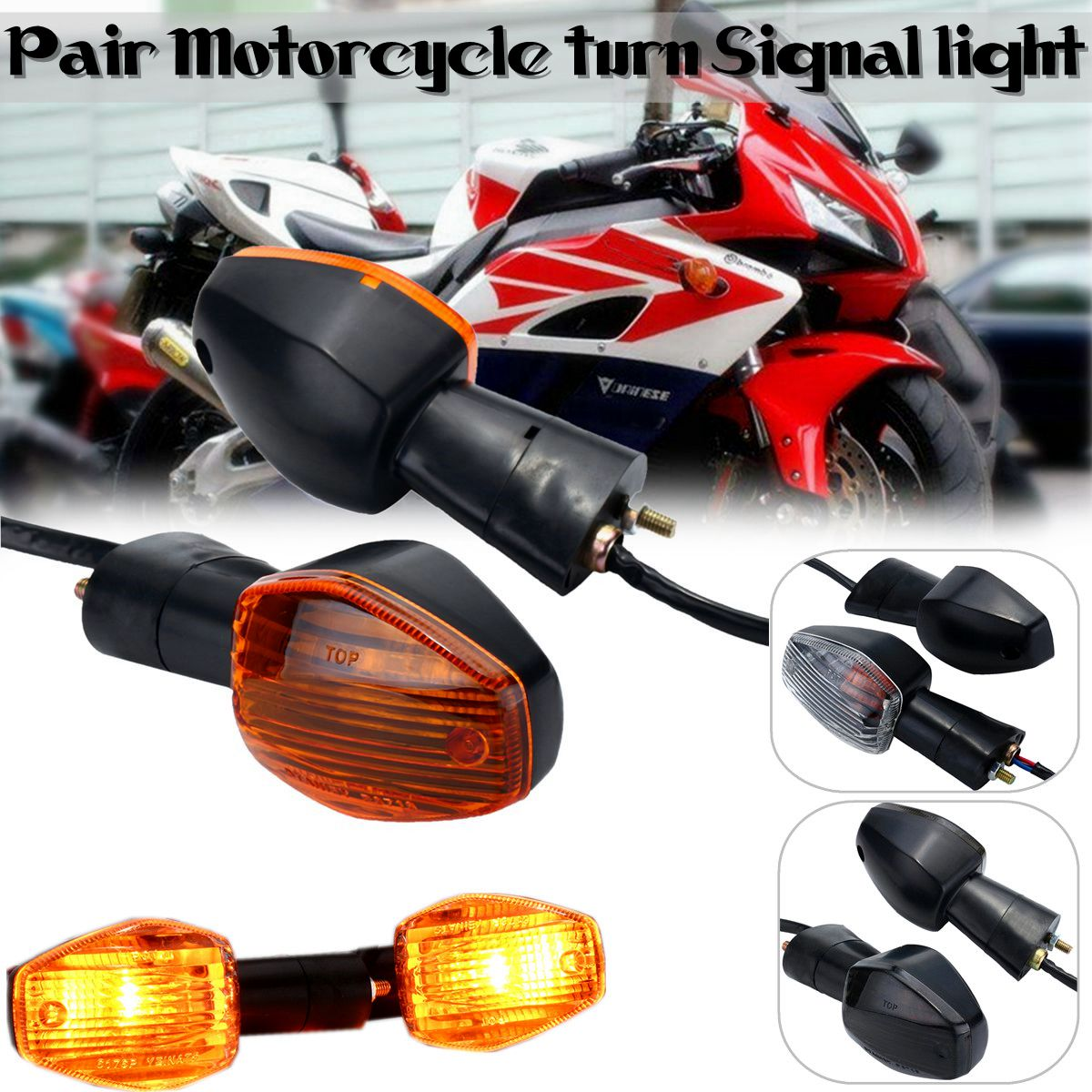 1 Pair Turn Signal Light Indicator For Honda CB400 CB1300 CBR 600 1000 RR F4 F4i Motorcycle Accessories Indicator Lamp Flashing