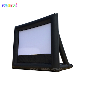 Free Shipping PVC 4m Wide 16:9 Rear Projection Screen Inflatable Screen Outdoor cinema Outdoor movies after dusk