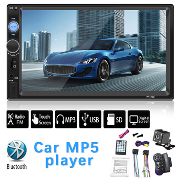 2 Din Car Radio Bluetooth 7 Touch Screen Autoradio Stereo FM Audio Stereo MP5 Player SD USB TF Camera Bluetooth Mirror Link image