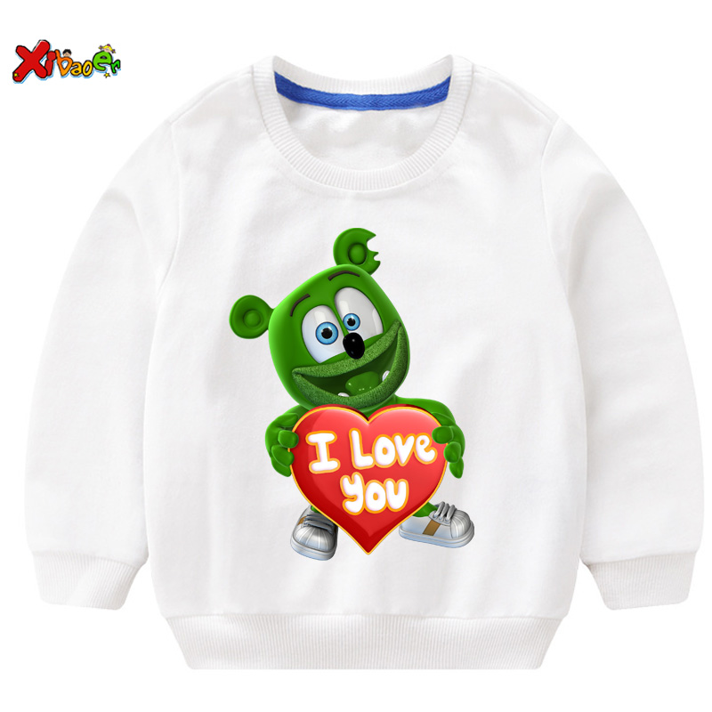 Gummy Bear kids hoodies sweatshirts I LOVE YOU t shirt Fashion Personality Casual T Shirt children boys girls T-shirt sweatshirt