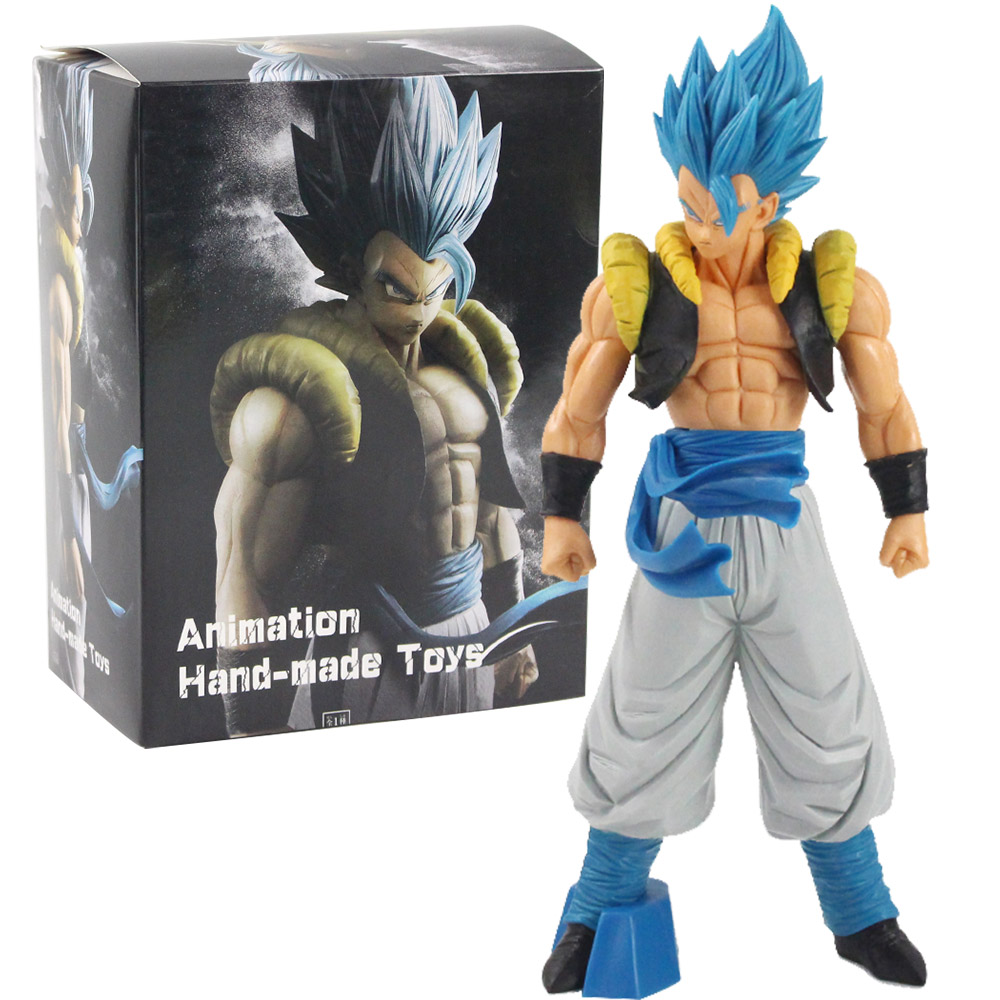 Anime Super Dragon Ball Z ROS Blue Hair Gogeta PVC Figure Toy New No Box 32cm