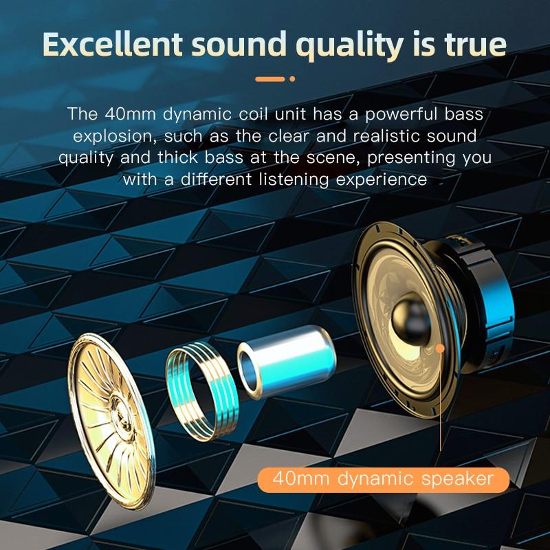 Nieuwe VJ320 Hifi Koptelefoon Draadloze Bluetooth 5.0 Opvouwbaar Ondersteuning Tf Card/Fm Radio/Bluetooth Stereo Headset Met Microfoon diepe Bas 6