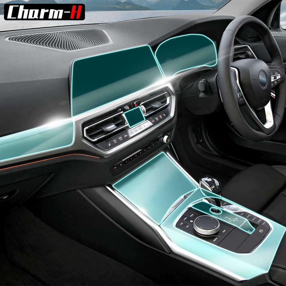 Para bmw série 3 g20 2019 2020 motorista de mão direita porta do carro console central mídia ac navegação tela tpu protetor filme