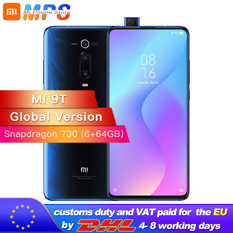 Global Version Mi 9T (Redmi K20) 6GB RAM 64GB Smartphone Snapdragon 730 Octa Core 4000mAh Pop-up Front Camera AMOLED 48MP