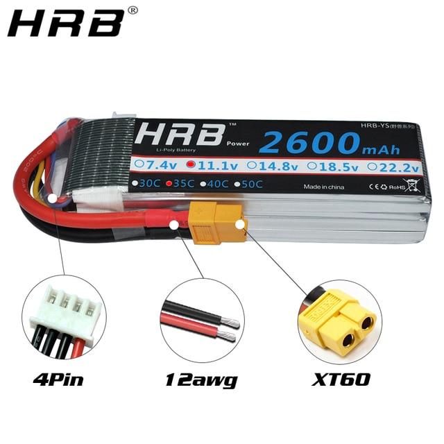 Hrb lipo battery 2600mah t dean 2s