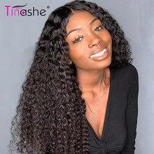 Tinashe crépus bouclés perruque HD Transparent dentelle perruques pour les femmes 180 densité 5x5 6x6 fermeture perruque brésilienne humide et ondulé perruque de cheveux humains