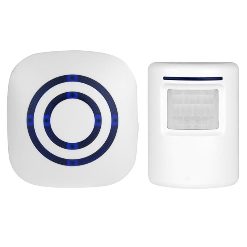 Wireless PIR Infrared Independent Motion Detector Burglar Alarm 38 Music Options Can Set Sound And Silence With Receiver