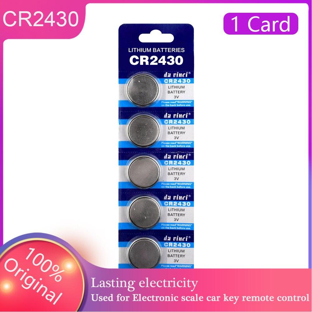 3V Bateria Botão CR2430 5 PÇS/LOTE Novo BR2430 DL2430 KL2430 Controle de Célula tipo Moeda De Lítio CR 2430 Para Computador Calculadora Relógio Celular
