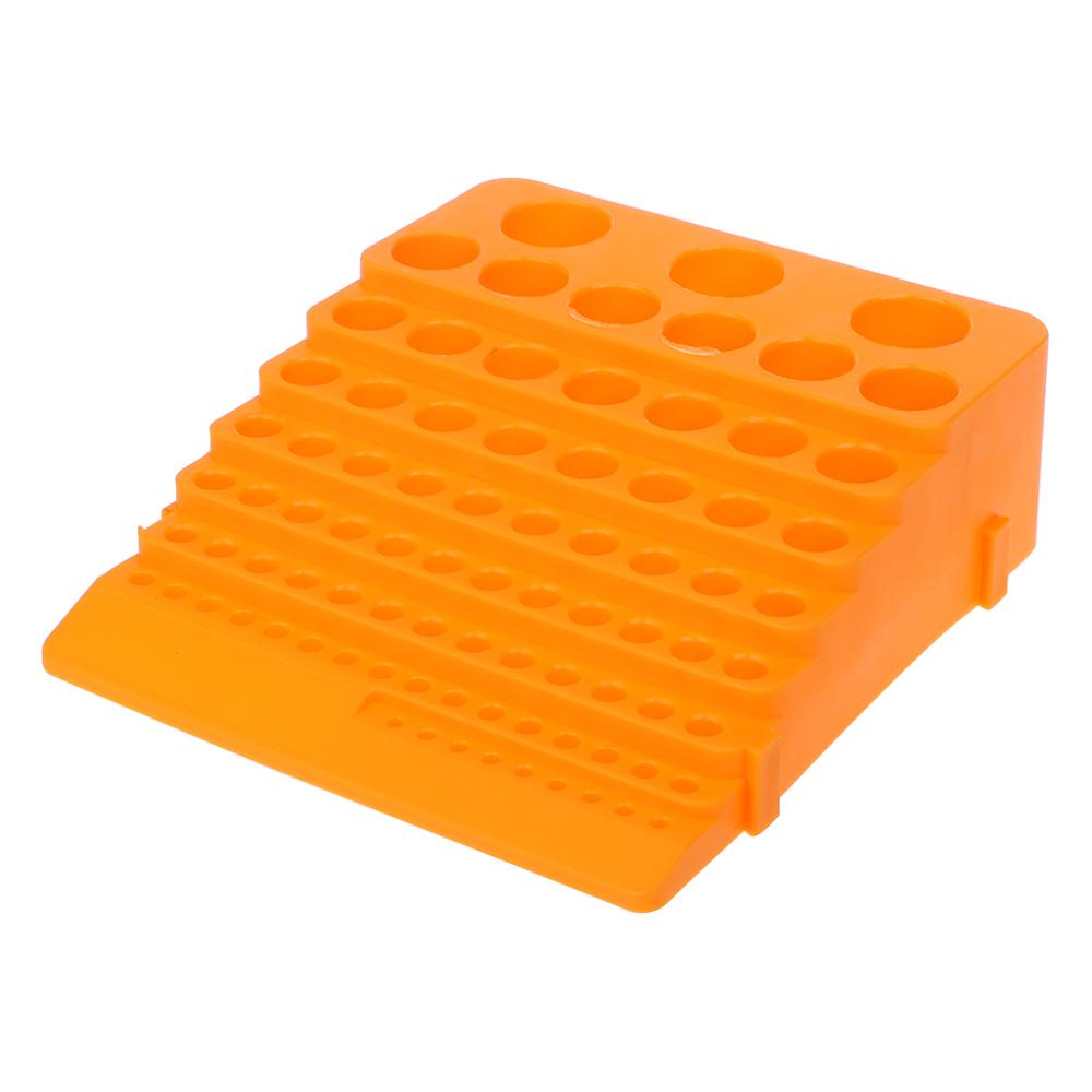 84 Holes Multifunctional Thickened Milling Cutter Reamer Drill Bit Storage Box Tool Accessories Organizer