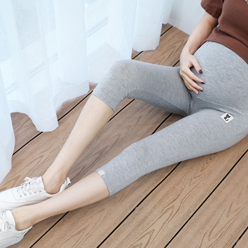 2020 Summer Soft Trousers Maternity Pants Pregnant Clothing Short Pregnancy Cartoon cat Goods women Clothes overalls Plus Size