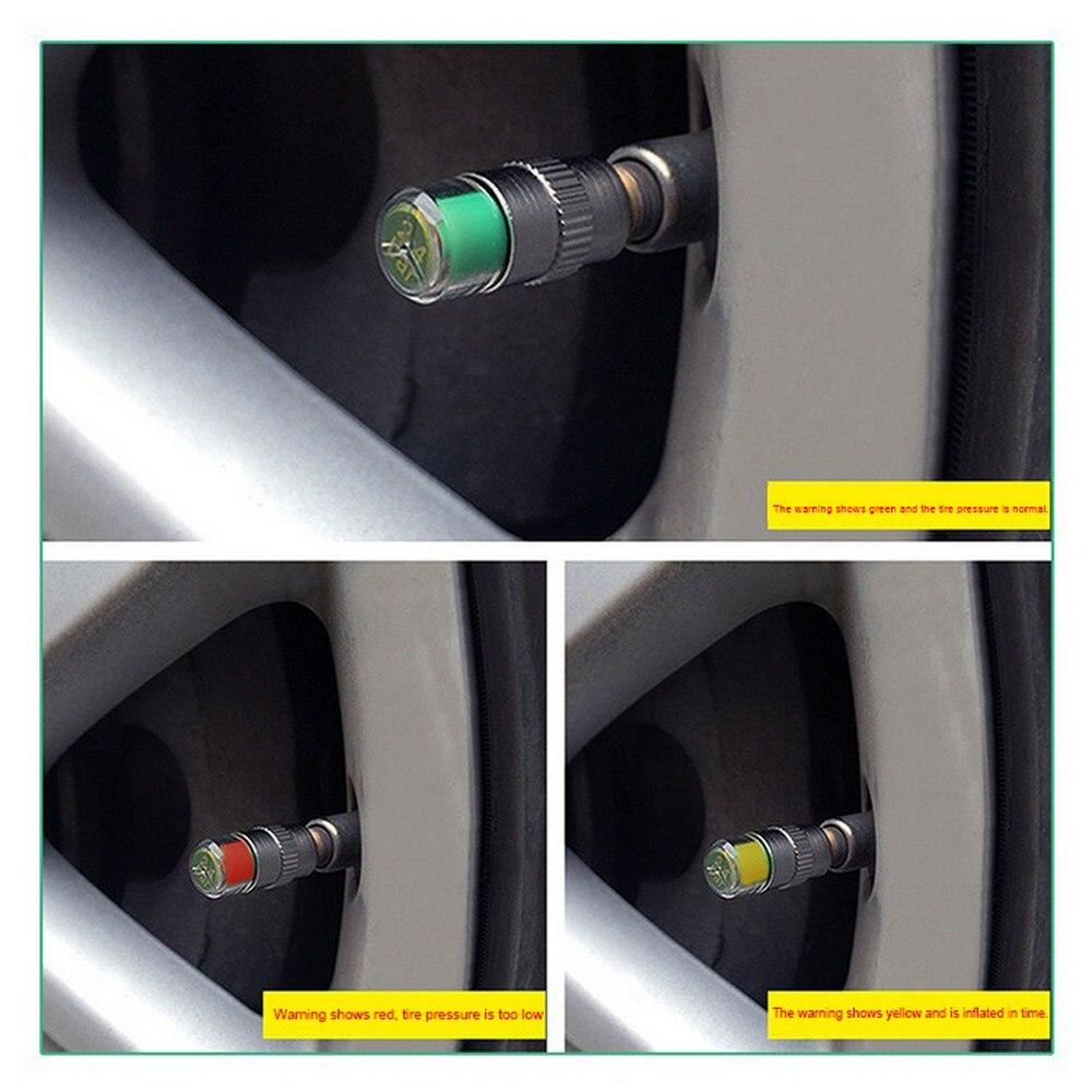 4Pcs//Lot 32 Psi 2.4Bar valve stem caps Air Warning Alert Tire Valve Pressure