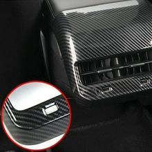 Rear Air Vents Outlet Cover For Tesla Model 3 2017-2019 Carbon Fiber Trim Frame Air Vents Decoration Car Interior