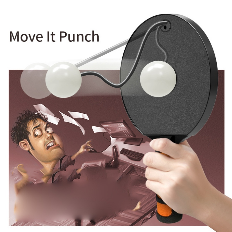 Anti-anxiety Toy Automatic Rebound Ping-Pong Racket Release Pressure Relieve Emotions Wrist Exercise Self Training Stress Reliev