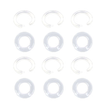 8PCS/set Transparent BioFlex Nose Ring Seamless Hinged Hoop Septum Ear Cartilage Piercing Body Jewelry