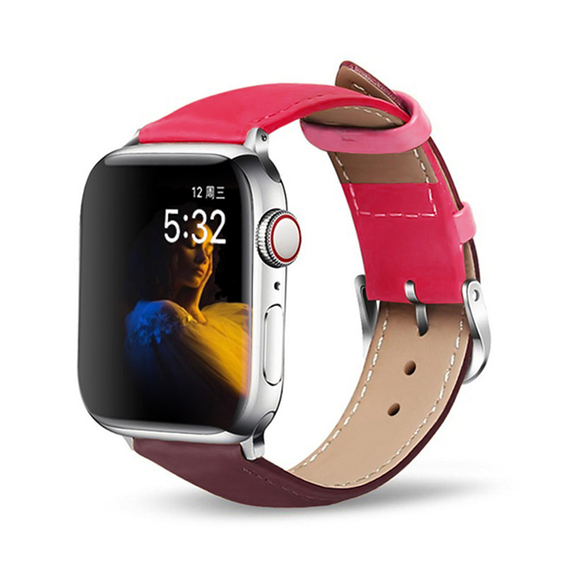 Band For Apple Watch 5/4/3/2/1 Sport Bracelet 42 Mm 38 Mm Leather Strap For Iwatch Bands Series 5 4 Accessories