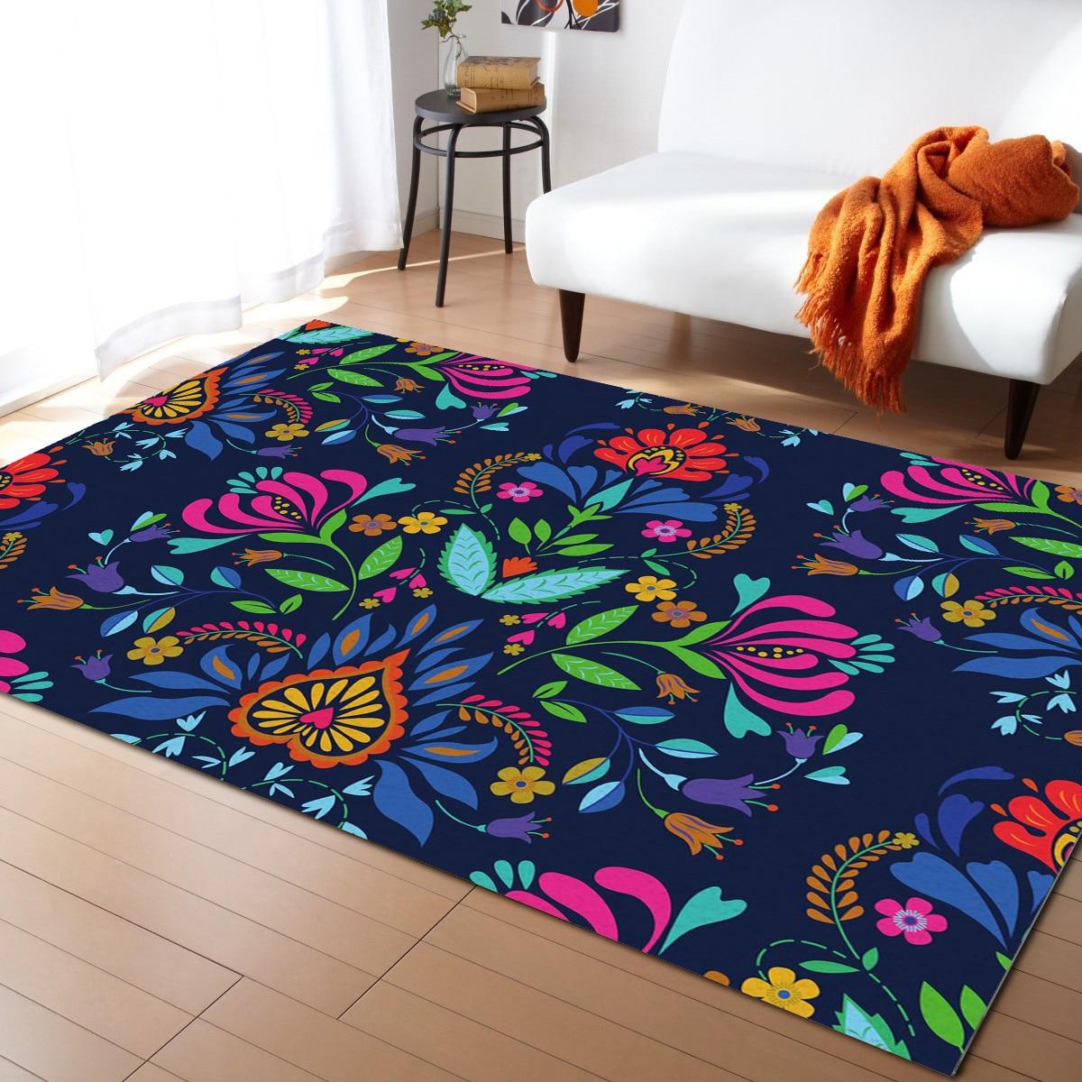 Красочные цветы, ковры в европейском стиле для спальни, коврики и ковровые покрытия для дома, гостиной, домашний прикроватный коврик