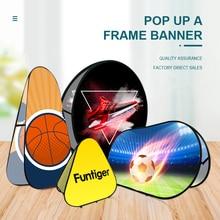 Pop Up A Frame Stand Banner Custom Design Protable Folding Horizontal Vertical Sideline Signs Sport Event Outdoor Advertisement