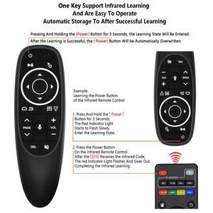 Image 3 - G10S Pro с подсветкой Air Mouse Голосовое управление с подсветкой Gyro Sensing Mini беспроводной умный пульт дистанционного управления для Android tv box PC