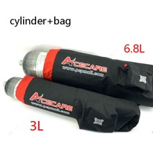 Acecare Scuba Pcp Cylinder 3L/6.8L 300Bar Bags Gauge Compressed Air Speargun Spearfishing Airgun Paintball Carbon Fiber Tank