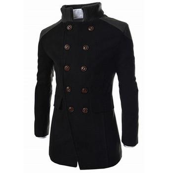 Męska kurtka ciepłe zimowe marki wełniane dla mężczyzn mieszanki płaszcze jednolity kolor z szalikiem męska wełna płaszcz mężczyzna dorywczo wełny płaszcz znosić tanie i dobre opinie CLASS OF 2030 Pełna REGULAR Poliester STANDARD X1045645654612 Suknem Wełna mieszanki NONE Stałe long Skręcić w dół kołnierz