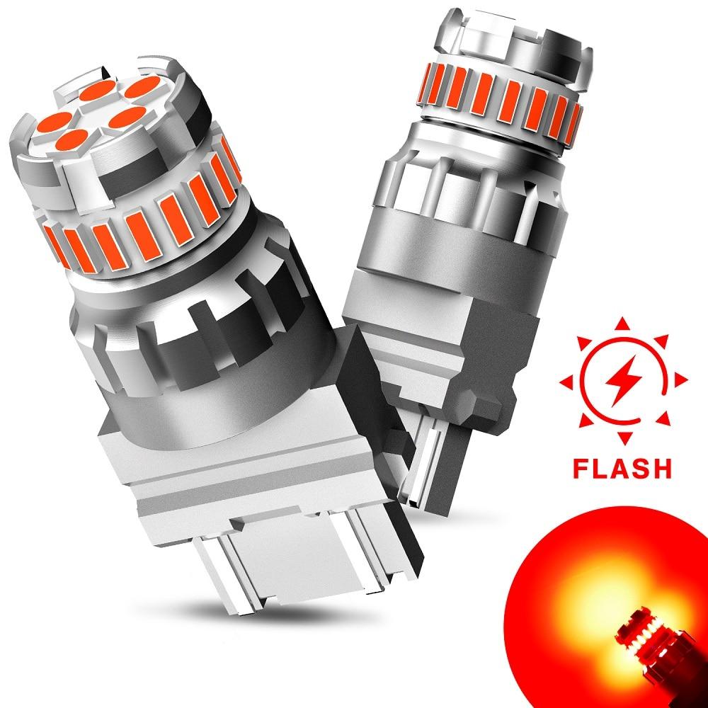 2 шт., Автомобильные светодиодные лампы 7440 лм T20 W21W W21/5W WY21W 7443 3157 T25 3156 p27/7w 12 В
